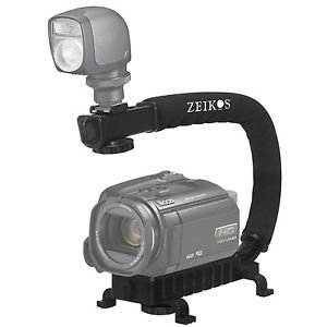 Pro Deluxe Video Stabilizing Bracket Handle for Canon Vixia HF R30 by Zeikos