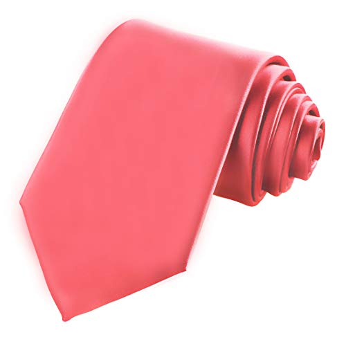 KissTies Mens Coral Reef Tie Solid Wedding Necktie + Gift -
