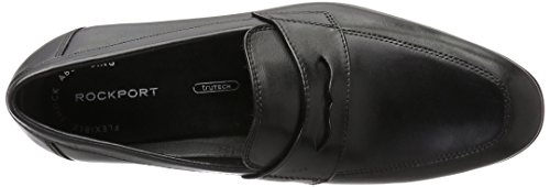 Slipper Style Penny Herren Black Leather Rockport Schwarz Connected 8qB7I