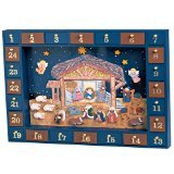 Kurt Adler J3767 Wooden Nativity Advent Calendar with 24 Magnetic Piece by Kurt Adler