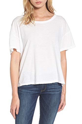 James Perse Crop Boxy Tee Shirt for Women in White, 4 (US XLarge) ()
