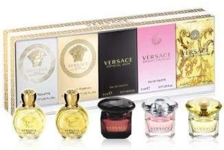 Versace Miniature Variety Collection 5 Piece Mini Set for Women (Fragrance Set Gift Collection)
