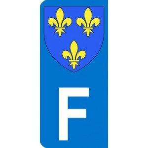 Sticker With Royalist France Emblem And Letter F For Left Side Of