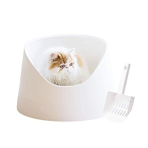 pidan Cat Litter Box Large Litter Pan Cat Toilet Open Design Moderate Capacity Safe and Reliable Moderate Capacity Easy…