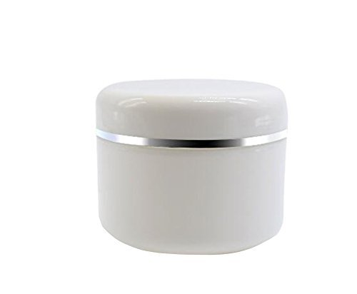 Spice Face (White Plastic Jar with Dome Lid 8 Oz (250g) Refillable Make-up Cosmetic Jars Empty Face Cream Lip Balm Lotion Storage Container Pot Case (Pack of 6))