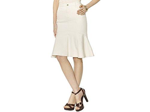 Lauren By Ralph Lauren Clay Denim Ruffle Skirt, Natural, 2 -
