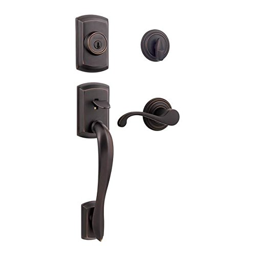 Kwikset 800AVH/966CHL-11P Venetian Bronze Avalon Single Cylinder Handleset with Commonwealth Lever