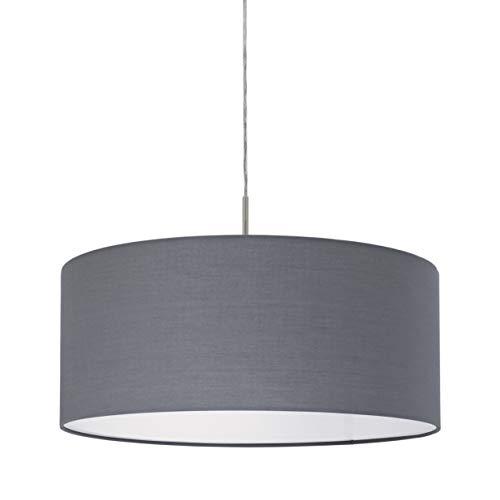 Eglo Pasteri L-530 - Lámpara de techo colgante (750 mm de largo, níquel), color gris mate