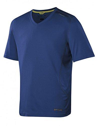 Terramar Long Underwear Top - Terramar Sports Men's Microcool Short Sleeve V-Neck XL Indigo