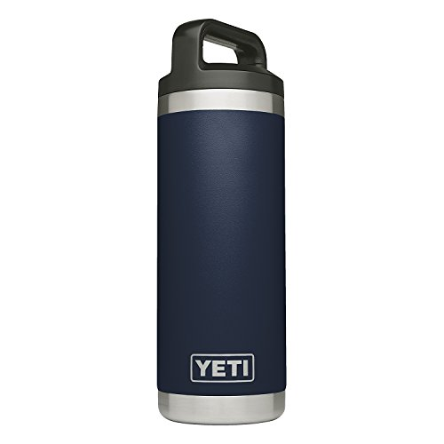 - YETI Rambler 18 oz Stainless Steel Vacuum Insulated Bottle with Cap, Navy