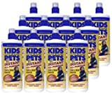 KIDS 'N' PETS Brand – Stain and Odor Remover, 12 pack, 32 fluid ounce bottles (384 fluid ounces total), My Pet Supplies