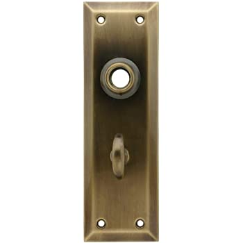 Solid Brass Thumb Turn In Antique By Hand Finish Door
