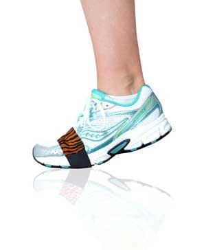 Bengal Tiger Smooth Dancers™ for Shoes to Glide on wood, tile or linoleum floors – Latest Stylish Accessory in Workout Footwear – Dance in Sneakers and Protect Knees – Money Back Guarantee - By Slip-On Dancers ®