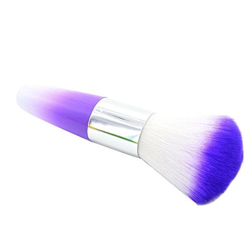 (Color Nail Art Dust Cleaner Brushes Tool for Acrylic UV Gel Powder Remover Kit (Purple))