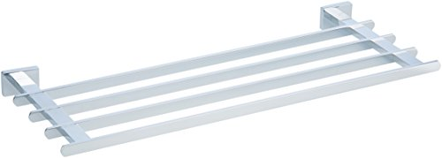 - AmazonBasics Euro Towel Rack Bathroom Shelf, Polished Chrome, 21 Inch