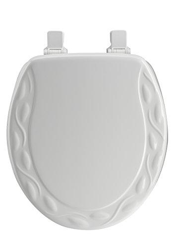 on sale Home Dynamix VMR-105 Veneer Marble Toilet Seat, 17-Inch, White