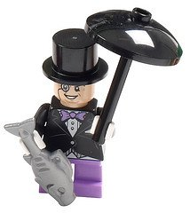 LEGO Batman Super Heroes Minifigure - Penguin with Umbrella and Fish (Penguin Man From Batman)