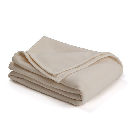 The Original Vellux Blanket - Full/Queen, Soft, Warm, Insulated, Pet-Friendly, Home Bed & Sofa - Ivory by Vellux