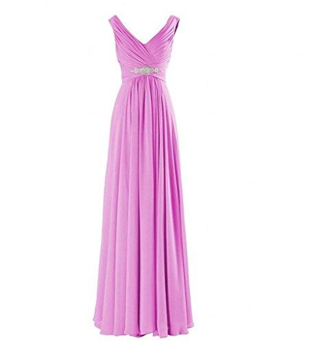 La Elegant Abschlussballkleider V Brautjungfernkleider Partykleider Marie Chiffon Flieder Abendkleider Braut Ausschnitt rqarEO
