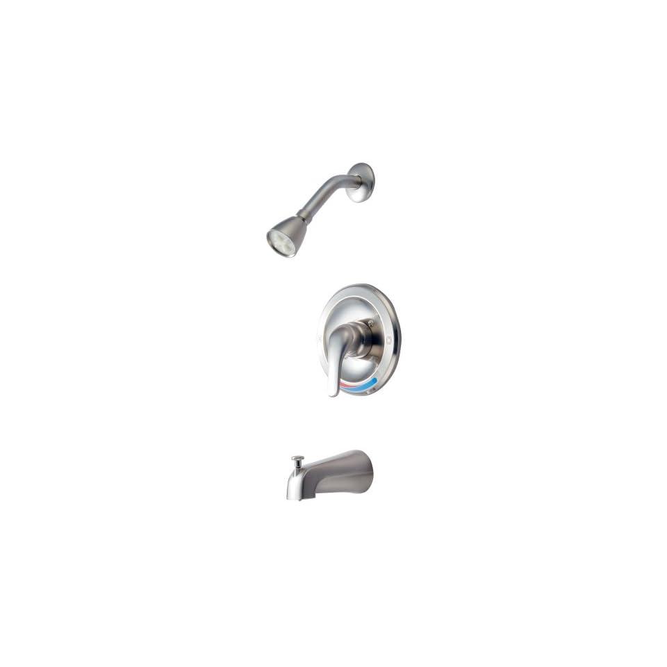 Hardware House 145516 Single Handle Tub/Shower Faucet Satin Nickel