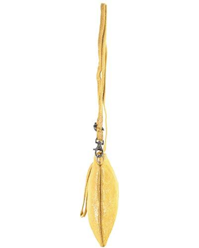 Clutch selena Histoiredaccessoires Mujer De Cuero Amarillo Oscuro Po152721i SCBCqgdw