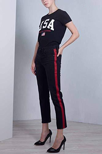 Polo Tuxedo Slim Banda 28 Con Ralph Lauren Taglia Nero Corti In Jeans Donna vOvrnpq
