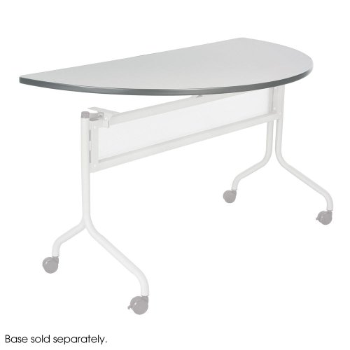 Mobile Office Worksurface - Impromptu Mobile Training Table Top, Half Round, 48w x 24d, Gray by SAFCO (Catalog Category: Furniture & Accessories / Tables)