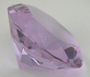 OPTIC CRYSTAL DIAMOND PAPERWEIGHT, LT BLUE. - Optic Diamond Crystal