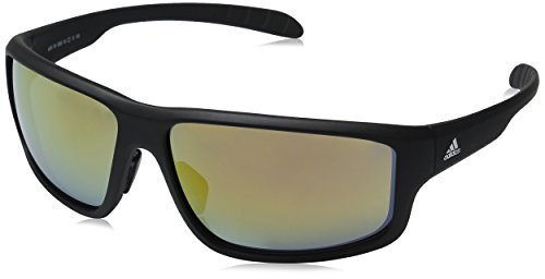 adidas Men's Kumacross 2.0 a424 6060 Rectangular Sunglasses, Black Matte, 64 - Adidas Sunglasses