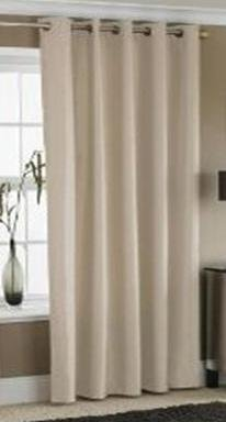 EYELET THERMAL BLACKOUT CURTAINS - CREAM - 90 inch x 90 inch Ring ...