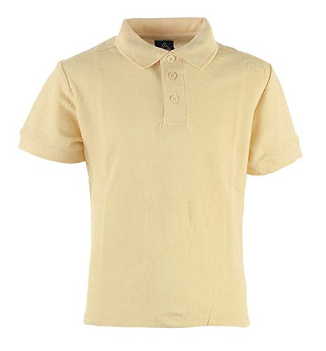 Access Unisex Kid's Short Sleeve School Uniform Pique Polo Khaki XL (18/20)
