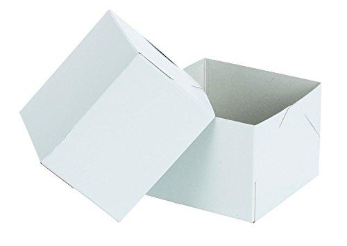 "Premier Retail White Gloss 4"" x 3"" Gift Box - 2 Piece, 10 Count"