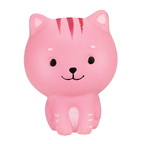 Kasien Slow Rising Toy, Colours Tiger Scented Squishies Slow Rising Squeeze Toys Stress Reliever Toy (Pink) -