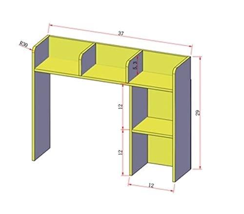 DormCo Classic Desk Bookshelf - White by DormCo (Image #4)