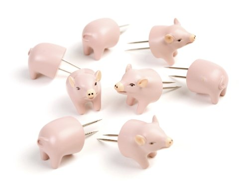 (Charcoal Companion Pig Corn Holders, 4 Pairs)