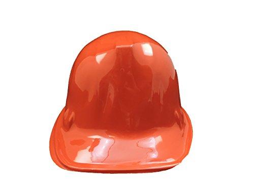 ORANGE Kid's Plastic Miner Construction Hard Hats Set Of 12]()