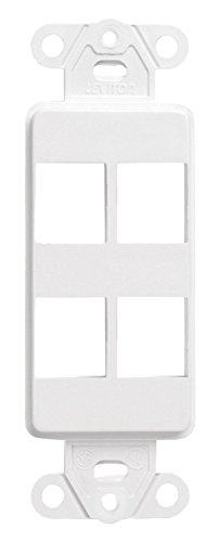 kPort Decora Insert, 4-Port, 20-Pack, White (Quickport Decora Insert)