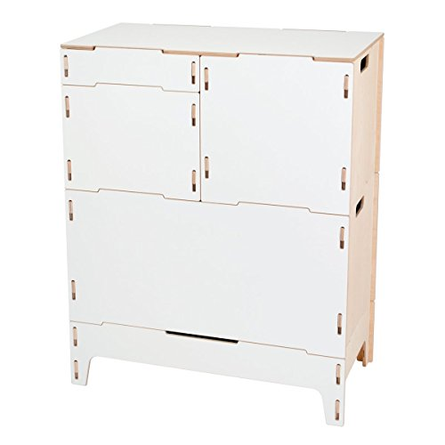 White Wood Stackable Art and Craft Storage Cabinet with Legs, American Made - By Sprout by Sprout