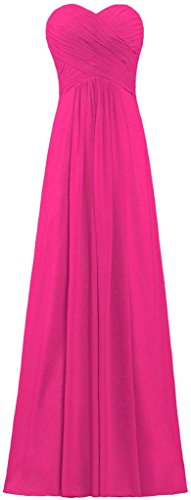 ANTS Women's Chiffon Bridesmaid Dresses Long Evening Gowns Size 22W US Hot Pink