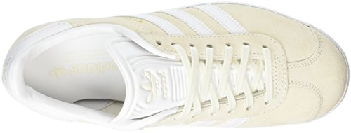 white gold Adulto Adidas White Unisex Met off Scarpe Bianco Ginnastica Da Gazelle 4TTRwzxf
