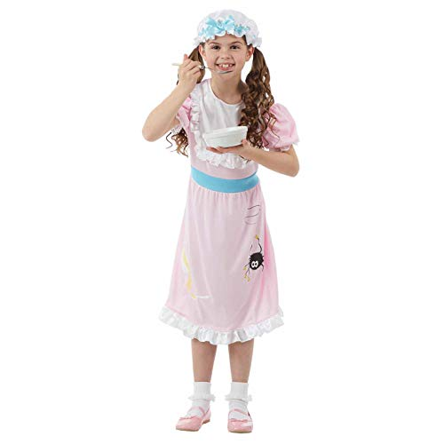 Childrens Little Miss Muffet Costume Girls Nursery Rhyme Book Outfit - Medium