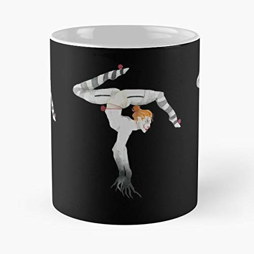 Clown Bill Skarsgard Scary Creepy Ceramic Coffee Mugs, Funny Gift ()