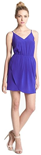 Amanda Uprichard Silk Charmeuse Tank Dress, Blue, (Charmeuse Tank)