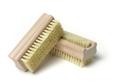 Hydrea London Extra Tough Wooden Nail Brush With Firm Cactus Bristles Dual Sided