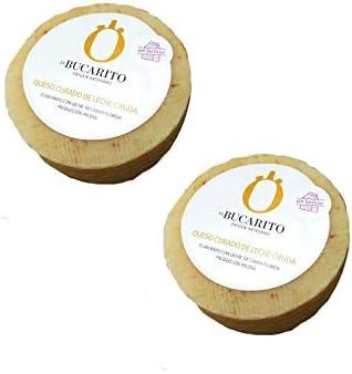 Queso Curado de Leche Cruda Sin Lactosa de 450 gr - Elaborado en Cadiz - Quesos El Bucarito (Pack de 2 piezas): Amazon.es: Alimentación y bebidas