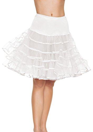 Leg Avenue Mid Length Petticoat Dress, White, One Size]()