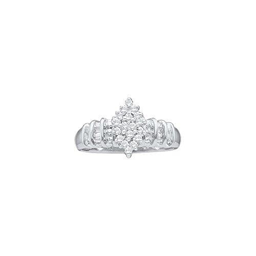 0.25CT DIAMOND CLUSTER RING (1/4 Carat Diamond Cluster Ring)