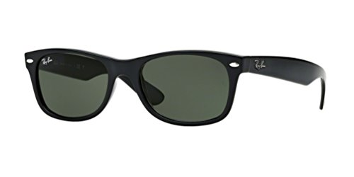 Ray-Ban RB2132 New Wayfarer Sunglasses Unisex (52 mm, Black Frame Solid Black - Rayban Luxottica