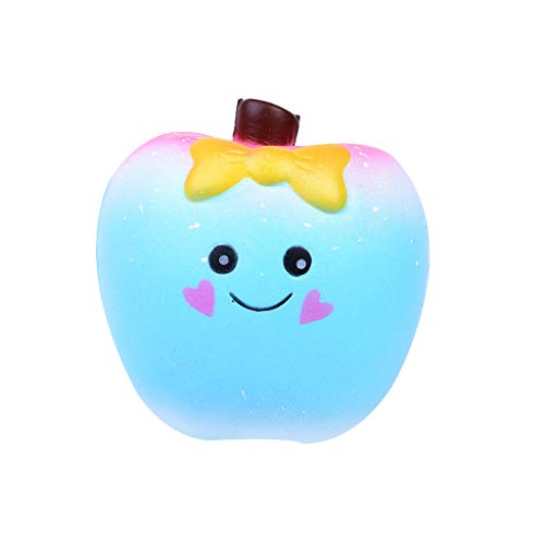 Slow Rising Creamy Scent Apple Toy,Stress Relief Squeezable Toy for Boys, Girls & Adults,Stress Reliever Toys 2020 (Blue) from ChunYiYi