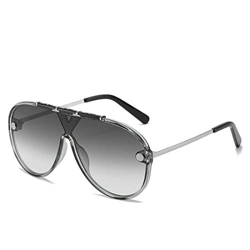 RONGLINGXING 2019 Fashion Premium Polarized Sunglasses for Women with One-Piece Lens Full Frame, Oversized Outdoor UV Protection Men's Women's Sunglasses for Driving (Color : Gray, Size : ()
